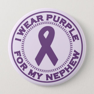I Wear Purple For My Nephew Pinback Button