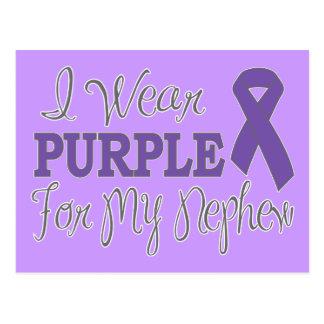 I Wear Purple For My Nephew (Purple Ribbon) Postcard