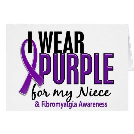 I Wear Purple For My Niece 10 Fibromyalgia Card
