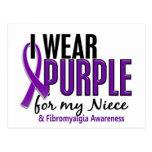 I Wear Purple For My Niece 10 Fibromyalgia Postcards