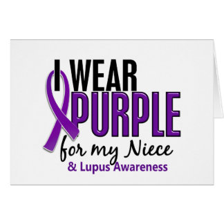 I Wear Purple For My Niece 10 Lupus Greeting Card