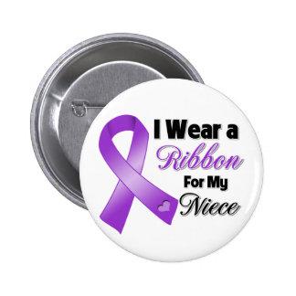 I Wear Purple For My Niece 2 Inch Round Button