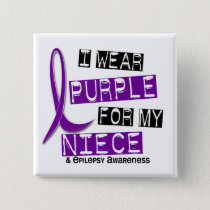I Wear Purple For My Niece 37 Epilepsy Button