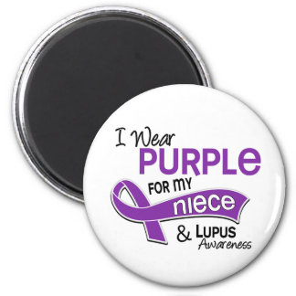 I Wear Purple For My Niece 42 Lupus 2 Inch Round Magnet