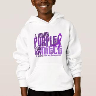 I Wear Purple For My Niece 6.4 Cystic Fibrosis Hoodie