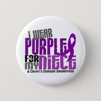I Wear Purple For My Niece 6 Crohn's Disease Button