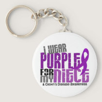 I Wear Purple For My Niece 6 Crohn's Disease Keychain