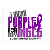 I Wear Purple For My Niece 6 Crohn's Disease Postcard