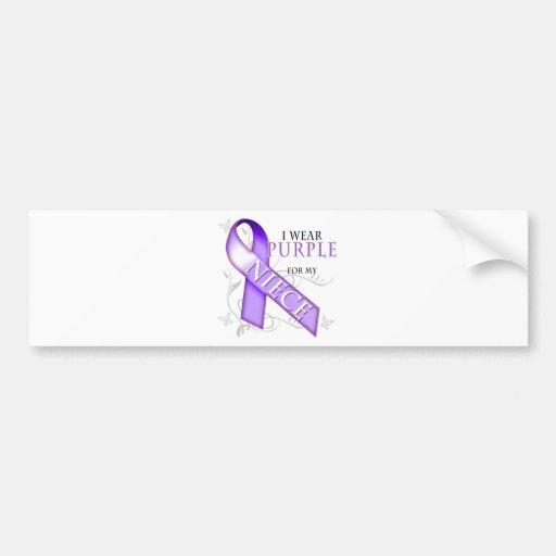I Wear Purple for my Niece Bumper Sticker