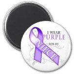 I Wear Purple for my Niece Fridge Magnets