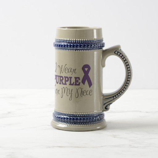 I Wear Purple For My Niece (Purple Ribbon) Mug