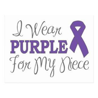 I Wear Purple For My Niece (Purple Ribbon) Postcard