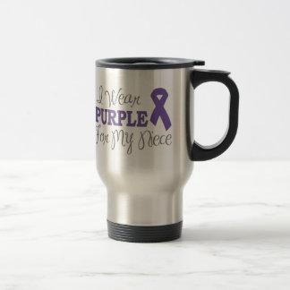 I Wear Purple For My Niece (Purple Ribbon) Travel Mug