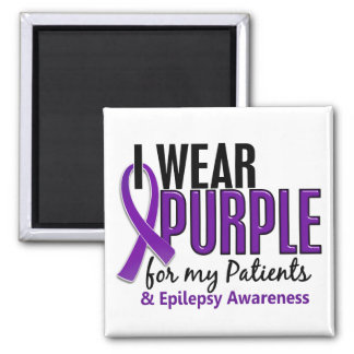 I Wear Purple For My Patients 10 Epilepsy Refrigerator Magnets