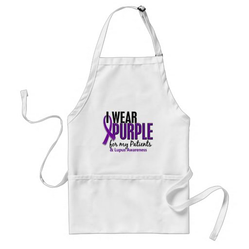 I Wear Purple For My Patients 10 Lupus Aprons