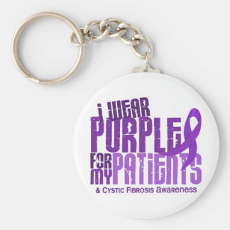 I Wear Purple For My Patients 6.4 Cystic Fibrosis Keychain