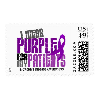 I Wear Purple For My Patients 6 Crohn's Disease Postage Stamp