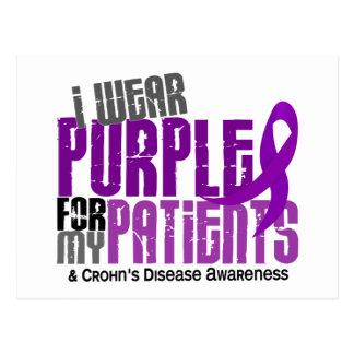 I Wear Purple For My Patients 6 Crohn's Disease Postcard