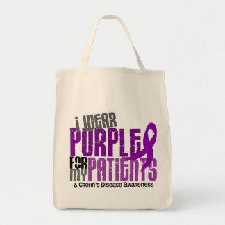 I Wear Purple For My Patients 6 Crohn's Disease Tote Bag