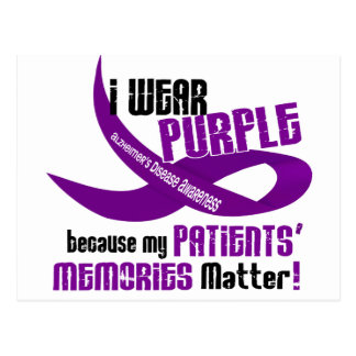 I Wear Purple For My Patients' Memories 33 Postcard