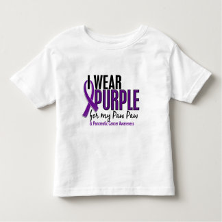 I Wear Purple For My Paw Paw 10 Pancreatic Cancer Toddler T-shirt