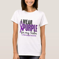 I Wear Purple For My Sister 10 Fibromyalgia T-Shirt