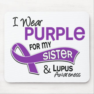 I Wear Purple For My Sister 42 Lupus Mouse Pad