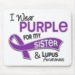 I Wear Purple For My Sister 42 Lupus Mousepads