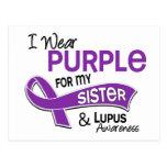 I Wear Purple For My Sister 42 Lupus Postcard