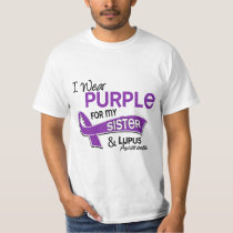 I Wear Purple For My Sister 42 Lupus Tee Shirt