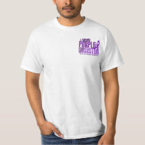 I Wear Purple For My Sister 6.4 Cystic Fibrosis T-Shirt