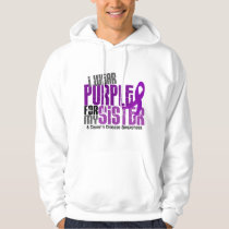 I Wear Purple For My Sister 6 Crohn's Disease Hoodie