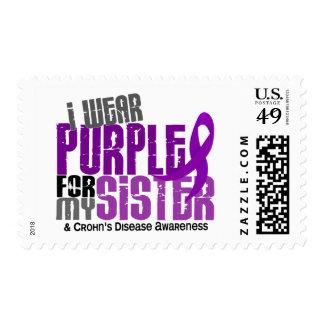 I Wear Purple For My Sister 6 Crohn's Disease Postage