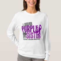 I Wear Purple For My Sister 6 Crohn's Disease T-Shirt