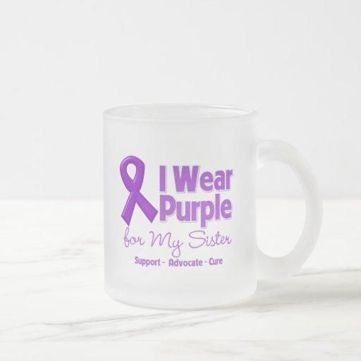 I Wear Purple For My Sister Coffee Mug