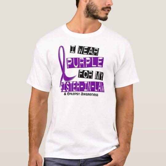 I Wear Purple For My Sister-In-Law 37 Epilepsy T-Shirt