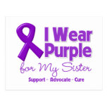 I Wear Purple For My Sister Post Cards