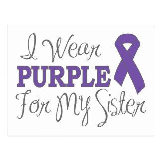I Wear Purple For My Sister (Purple Ribbon) Postcard