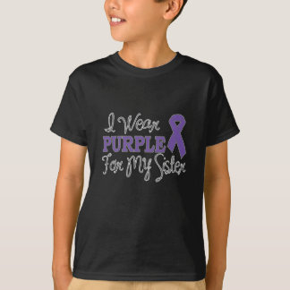 I Wear Purple For My Sister (Purple Ribbon) T-Shirt