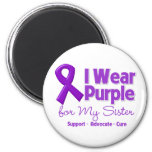 I Wear Purple For My Sister Refrigerator Magnet