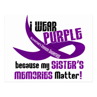 I Wear Purple For My Sister's Memories 33 Postcard