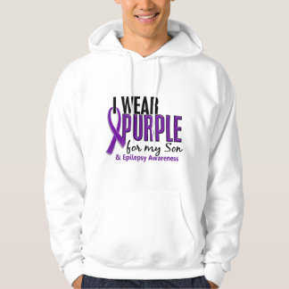 I Wear Purple For My Son 10 Epilepsy Hooded Pullover
