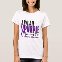 I Wear Purple For My Son 10 Epilepsy T-Shirt