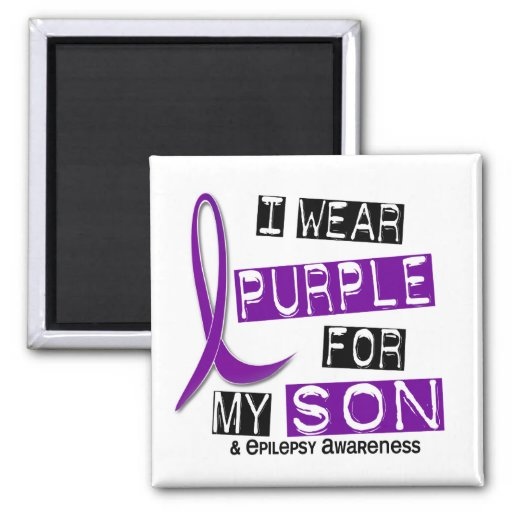 I Wear Purple For My Son 37 Epilepsy Magnets