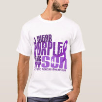 I Wear Purple For My Son 6.4 Cystic Fibrosis T-Shirt