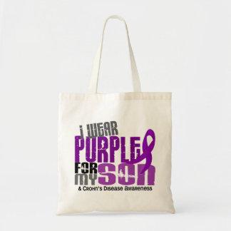 I Wear Purple For My Son 6 Crohn's Disease Bags