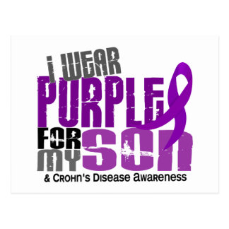 I Wear Purple For My Son 6 Crohn's Disease Postcard
