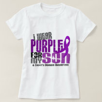 I Wear Purple For My Son 6 Crohn's Disease T-Shirt