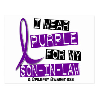 I Wear Purple For My Son-In-Law 37 Epilepsy Postcard