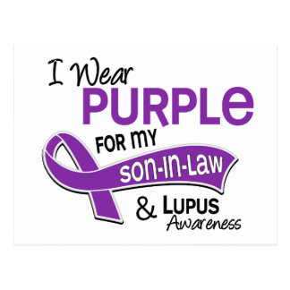 I Wear Purple For My Son-In-Law 42 Lupus Postcard